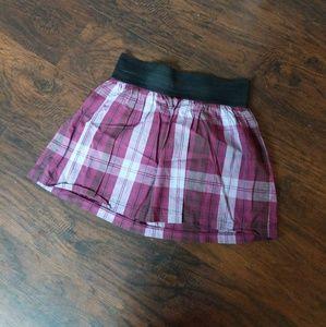 Purple Plaid Mini Skirt